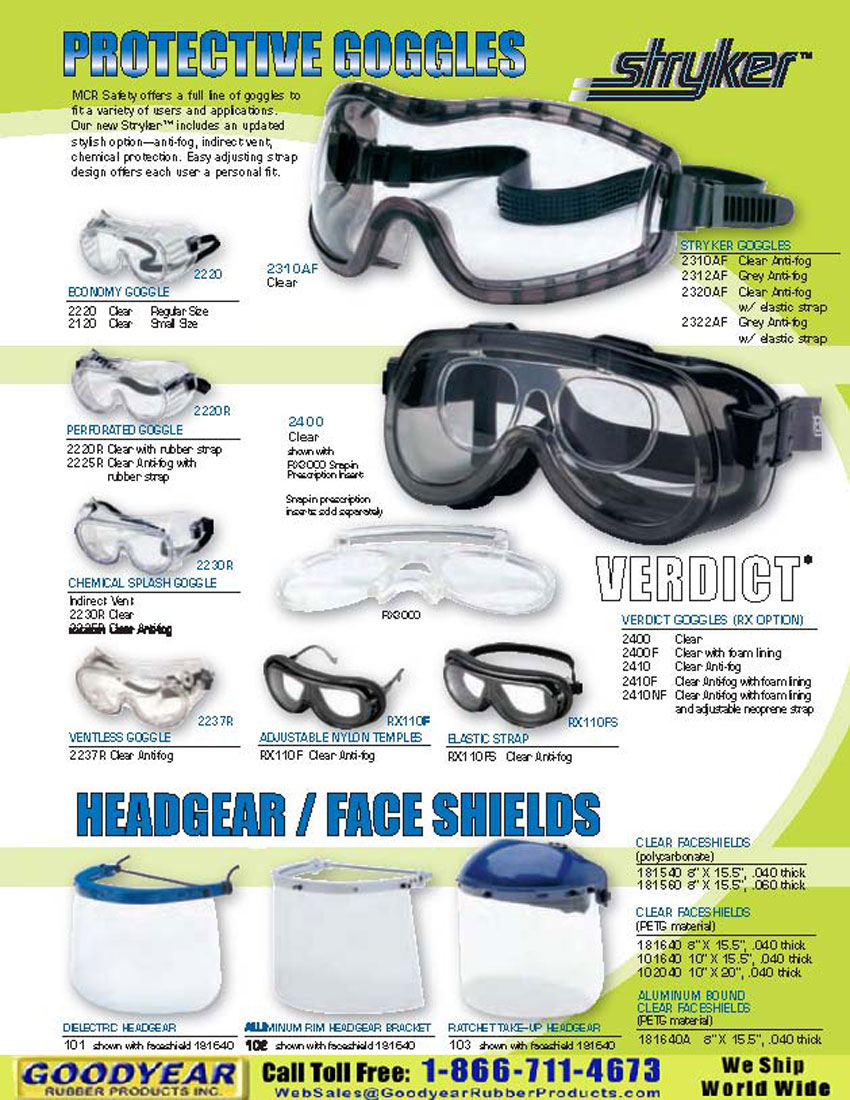 MCR Safety 2237R Protective Goggles